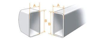 Jak dobrać stopki? Należy zmierzyć zaznaczone wymiary profilu drabiny na który ma być nałożona stopka i dobrać właściwą stopkę z tabeli.