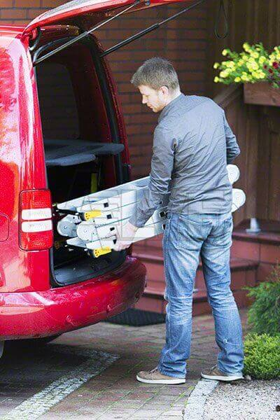 Drabina przegubowa Alve Forte, zmieści się do bagażnika samochodu.